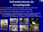 infraestruturas de investiga o