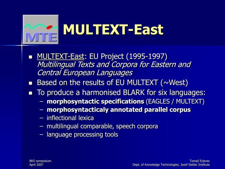 MULTEXT-East