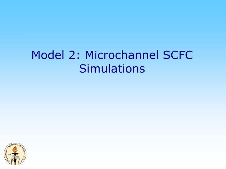 Model 2: Microchannel SCFC Simulations