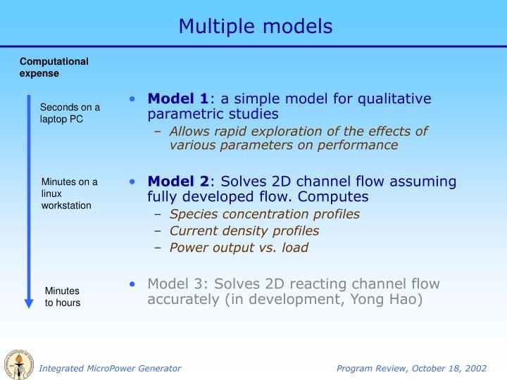 Multiple models