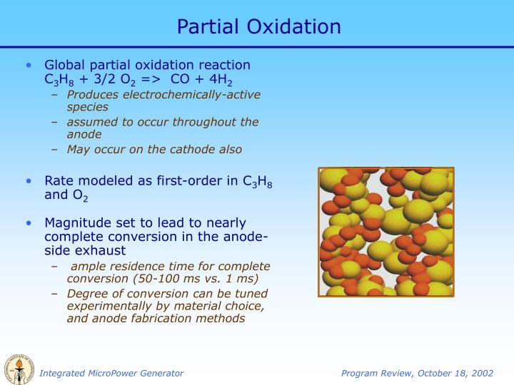 Partial Oxidation