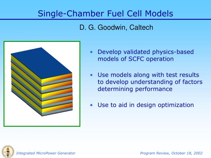 Single chamber fuel cell models
