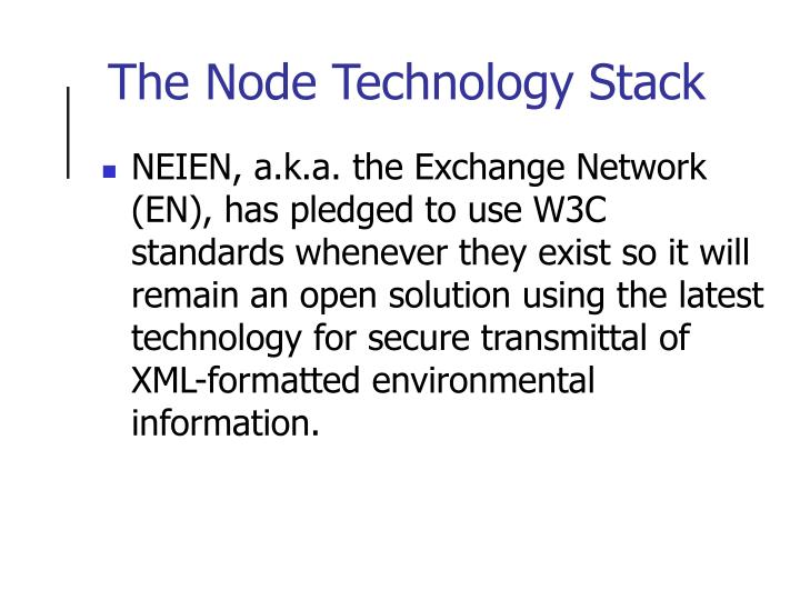 The Node Technology Stack