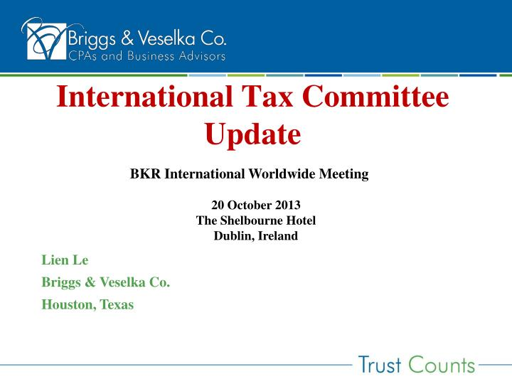 international tax committee update n.