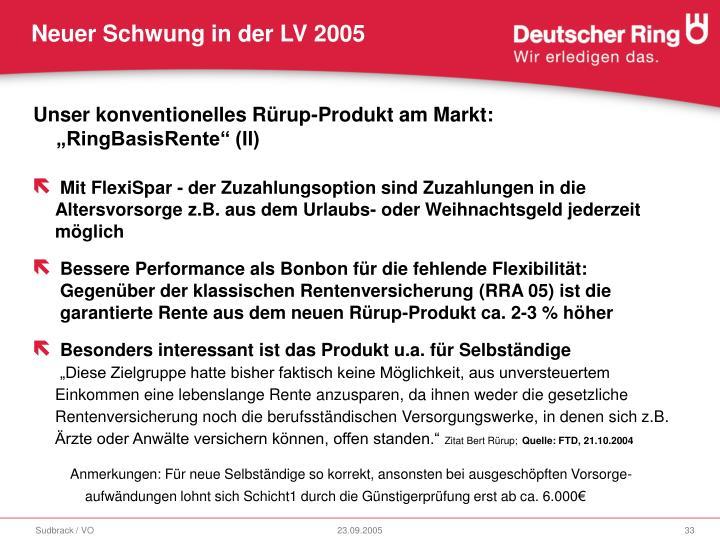 """Unser konventionelles Rürup-Produkt am Markt: """"RingBasisRente"""" (II)"""