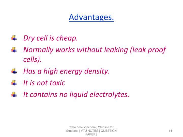 Advantages.