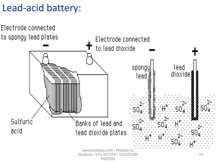Lead-acid battery:
