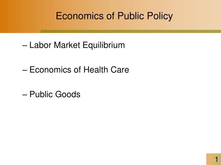 economics of public policy n.