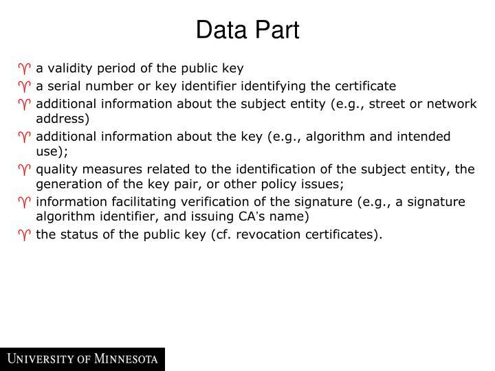 Data Part