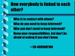 how everybody is linked to each other