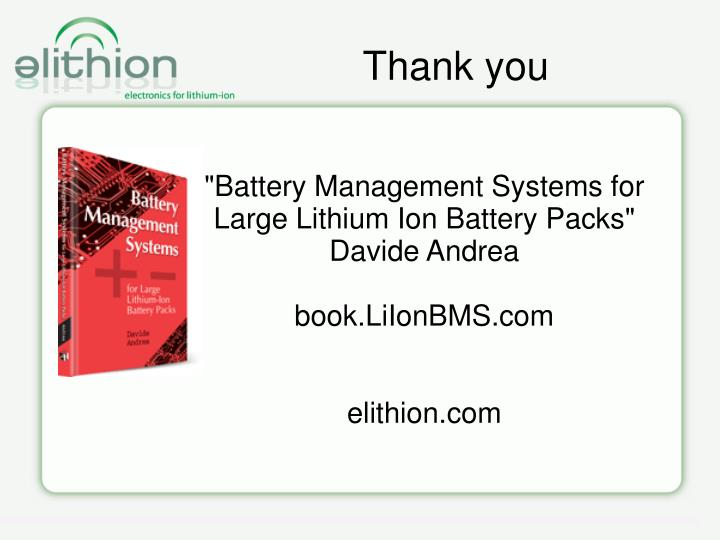 """""""Battery Management Systems for Large Lithium Ion Battery Packs"""""""