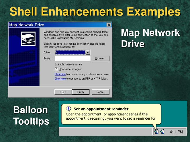 Shell Enhancements Examples