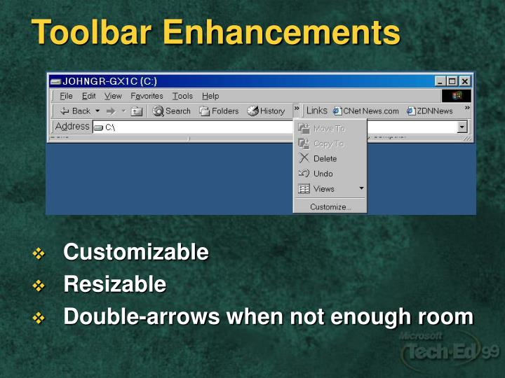 Toolbar Enhancements