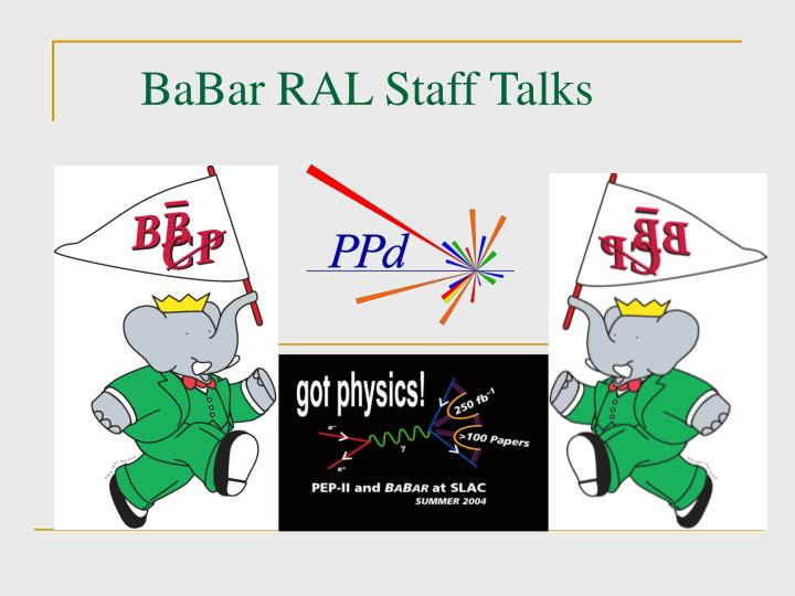 Babar ral staff talks