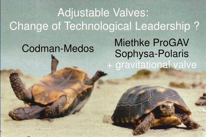 Adjustable Valves: