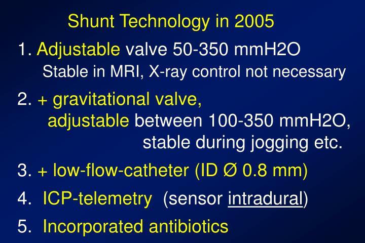 Shunt Technology in 2005