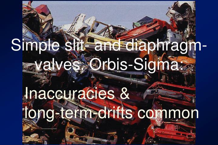 Simple slit- and diaphragm- valves, Orbis-Sigma: