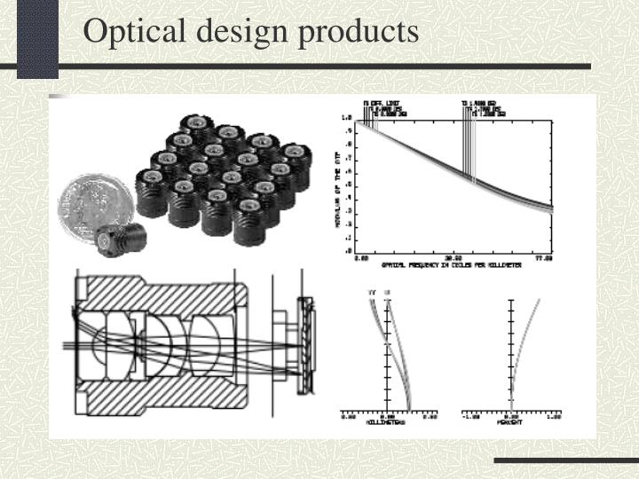 Optical design products