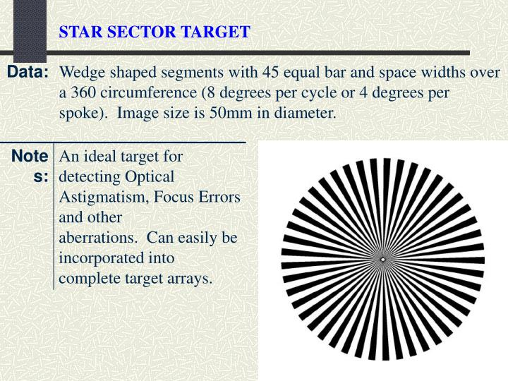 STAR SECTOR TARGET
