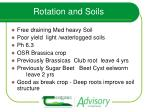 rotation and soils