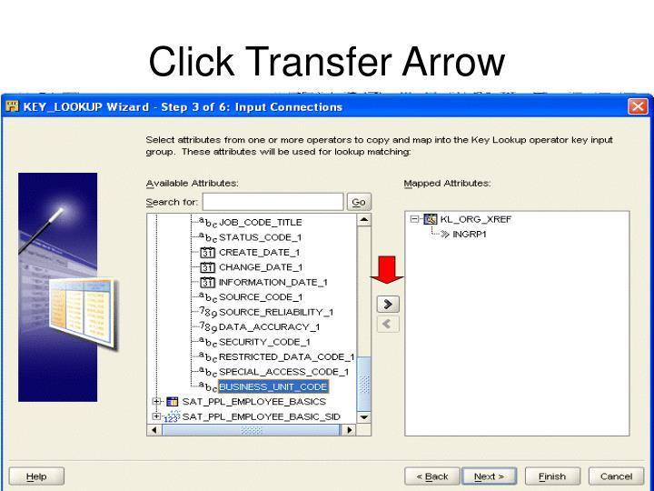 Click Transfer Arrow