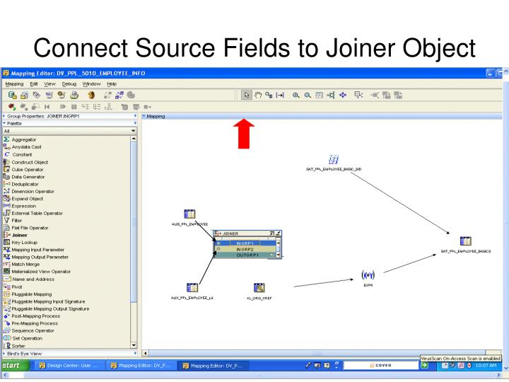Connect Source Fields to Joiner Object