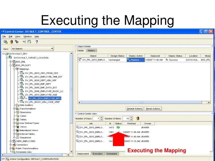 Executing the Mapping