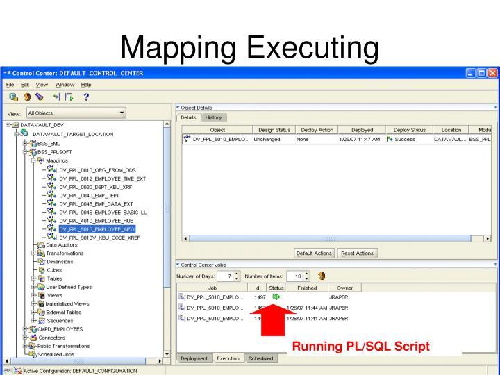 Running PL/SQL Script