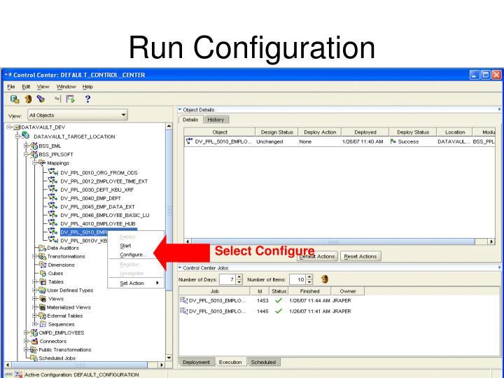 Select Configure