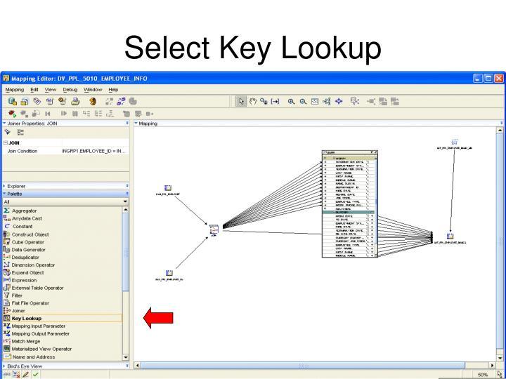 Select Key Lookup