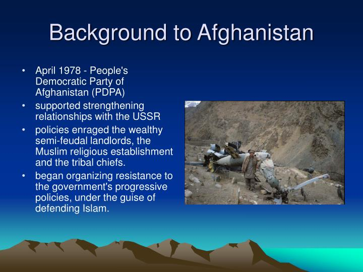 Background to afghanistan