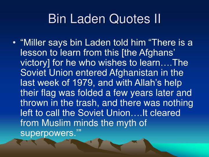 Bin Laden Quotes II