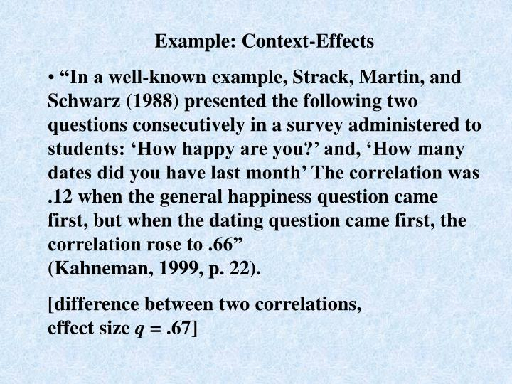 Example: Context-Effects