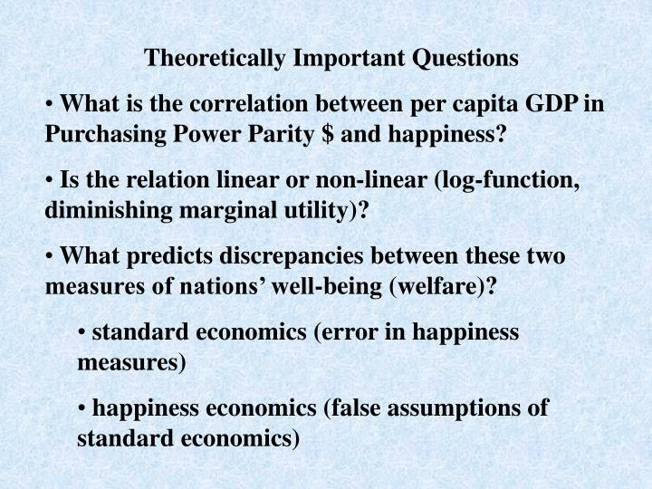 Theoretically Important Questions