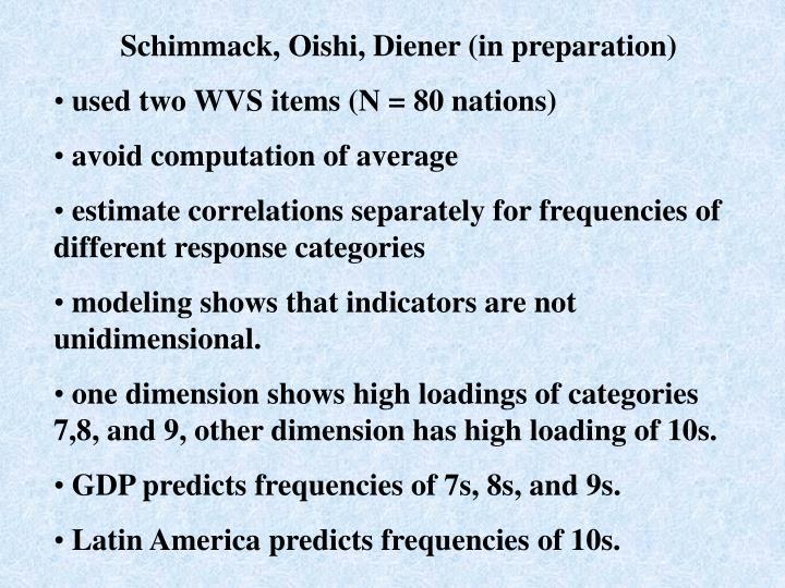 Schimmack, Oishi, Diener (in preparation)