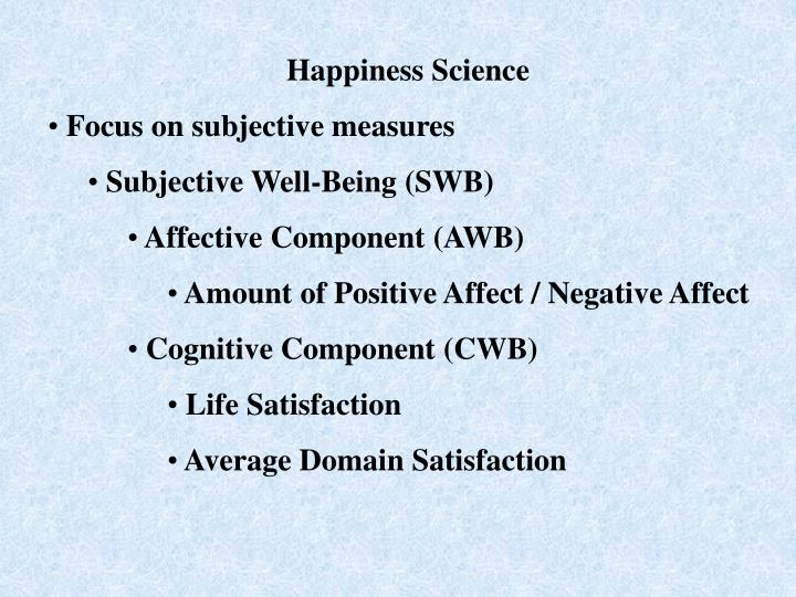 Happiness Science