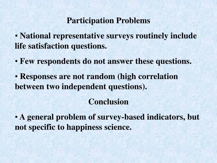 Participation Problems