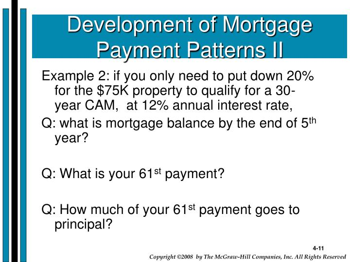 Development of Mortgage Payment Patterns II