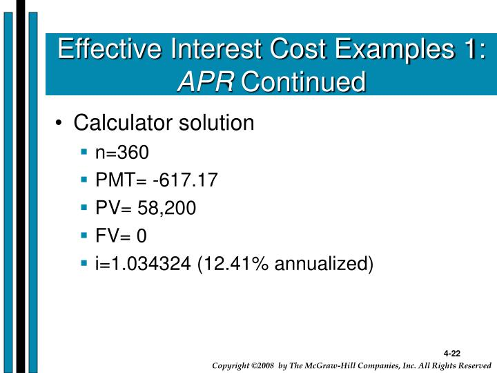 Effective Interest Cost Examples 1: