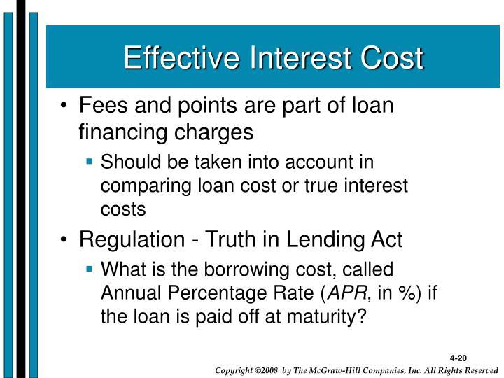 Effective Interest Cost