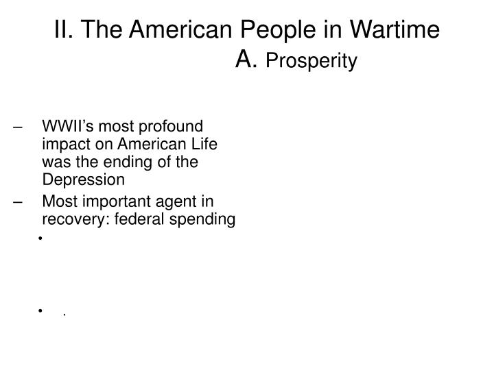 II. The American People in Wartime