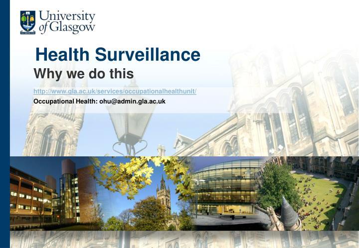 health surveillance n.