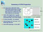 summary of ota properties