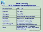 whirc summary w iyn h igh r esolution i nfra r ed c amera