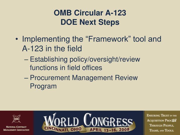 OMB Circular A-123