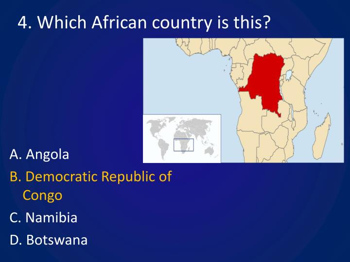 4. Which African country is this?