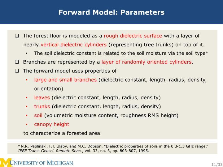 Forward Model: Parameters