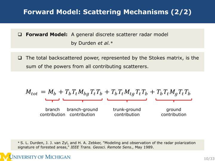 Forward Model: Scattering Mechanisms (2/2)