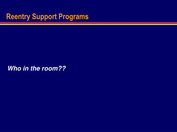 Reentry Support Programs