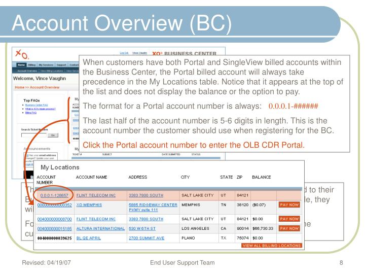 Account Overview (BC)